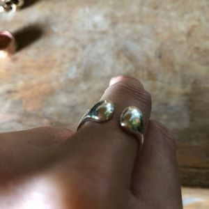 Hand Crafted Jewelry - .925 sterling wrap around bean ring
